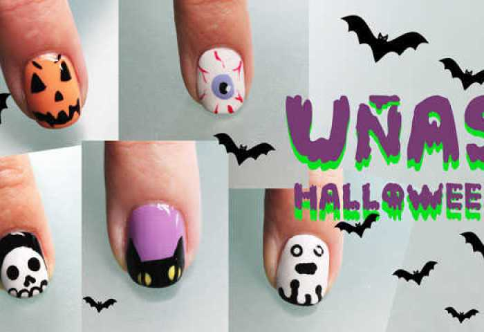 5 Uñas Decoradas De Halloween Paso A Paso Nailistas Productos De