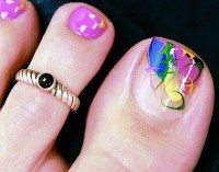 18+ Beautiful nail art designs for feet  NAILKART.com