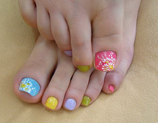 Simple Nail Art Designs For Beautiful Feet