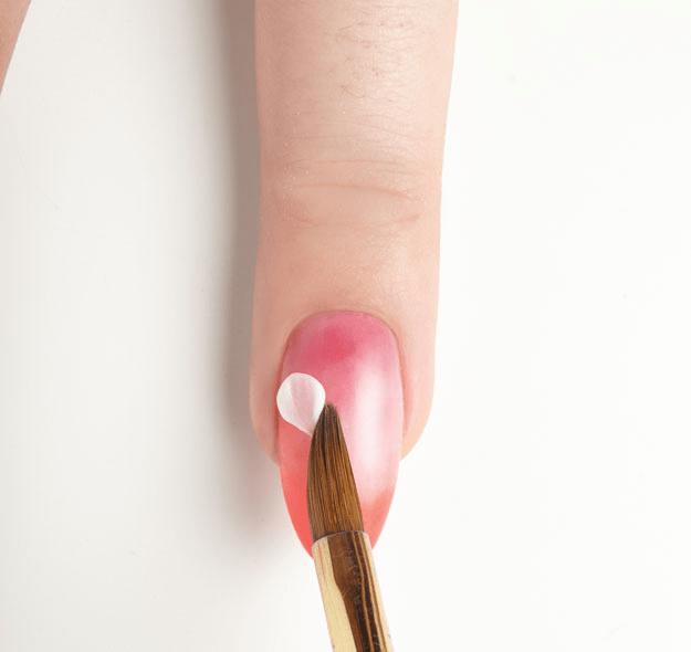 White 3d Acrylic Flowers Nail Art