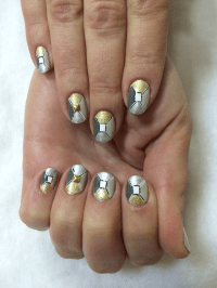 Nail Art Tutorial, Nail Designs, Nail Art How To, Metallic