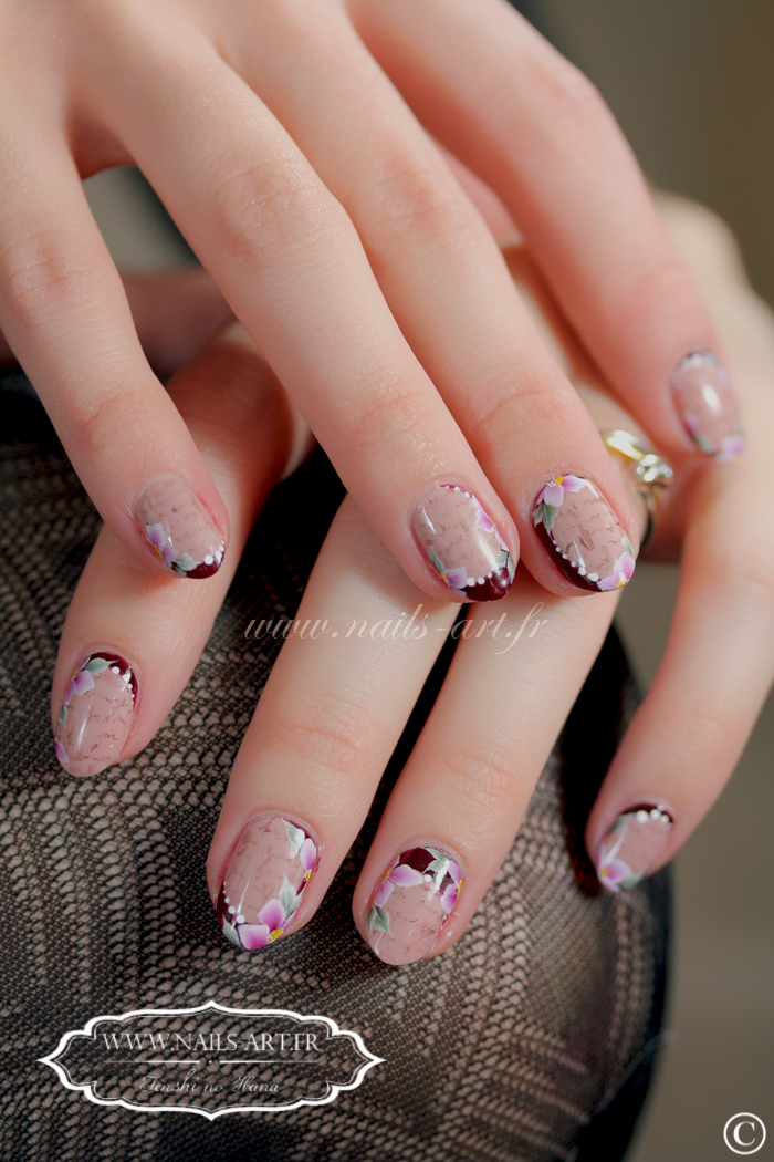 Lettre Damour Valentine Nature Nails Nails Art