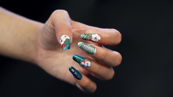 Tropical Nail Art Design