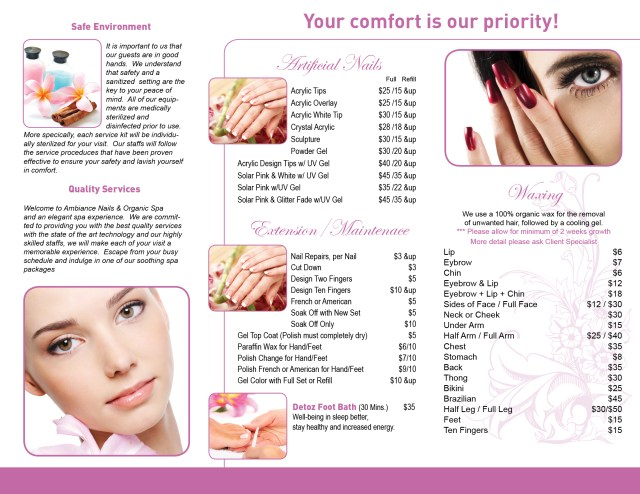 Salon Brochure  Free Download