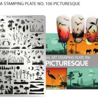 Moyra stempelplade 106 picturesque