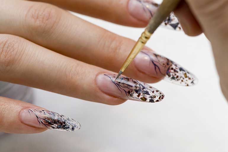 Clear Acrylic Nail Designs