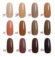 brown nail polish- light dark