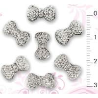 3D Nail Art Designs | Diamond Nail Bow Tie