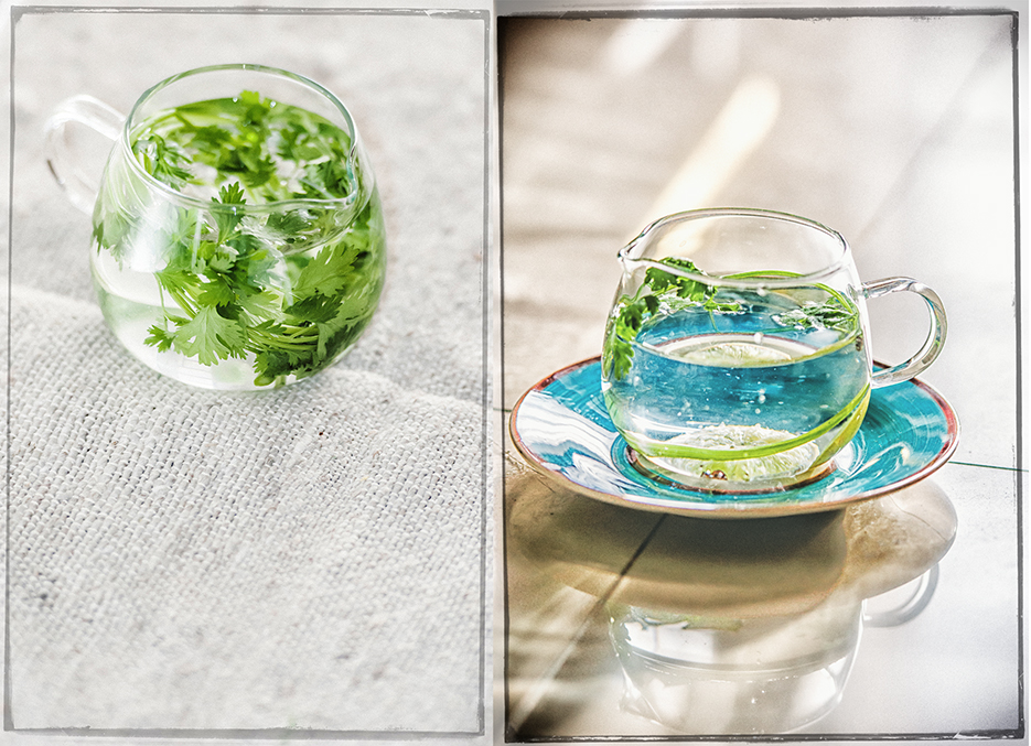Fresh green Coriander. Food Photography by professional Indian lifestyle photographer Naina Redhu of Naina.co