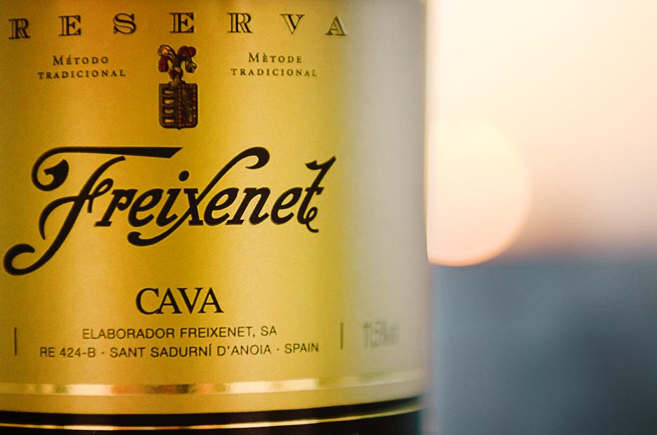 Freixenet CAVA. Carta Nevada. Reserve. Spanish Sparkling white wine. Photography by professional Indian lifestyle photographer Naina Redhu of Naina.co