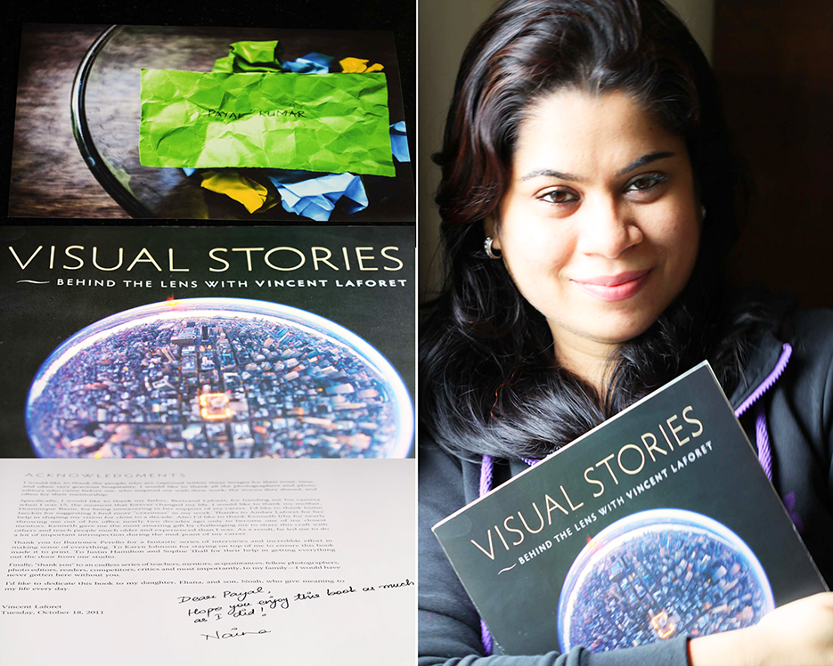Winner of the Visual Stories photography book giveaway by photographer Naina Redhu of Naina.co