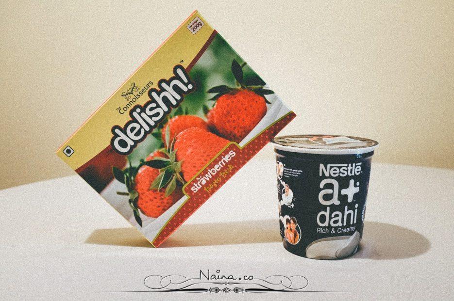 Strawberry Yoghurt Breakfast photographed by Lifestyle, Luxury & Food Photographer & Blogger Naina.co