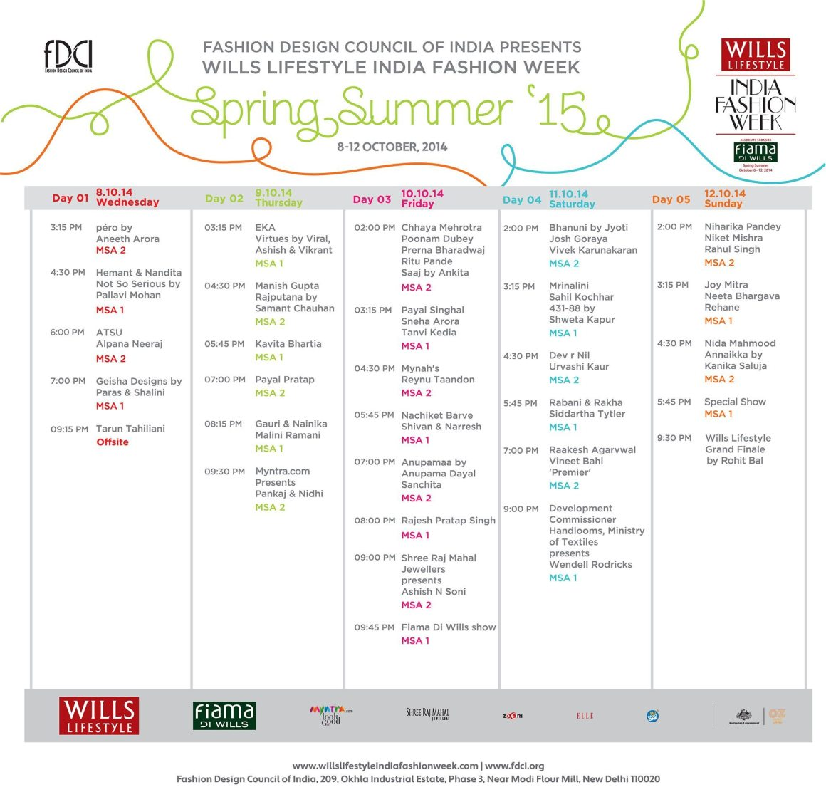 FDCI-Wills-Lifestyle-India-Fashion-Week-Spring-Summer-2015-NainaCo-Luxury-Photographer-Storyteller-Raconteuse-Schedule