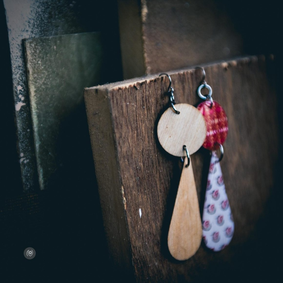 Decoupage Birch Wood ear rings by Molly D Design5 Studio, Naina.co, Naina Redhu, Luxury Photographer, Lifestyle Photographer, Luxury Blogger, Lifestyle Blogger, Experience Collector, Personal Style, #MadeInIndia