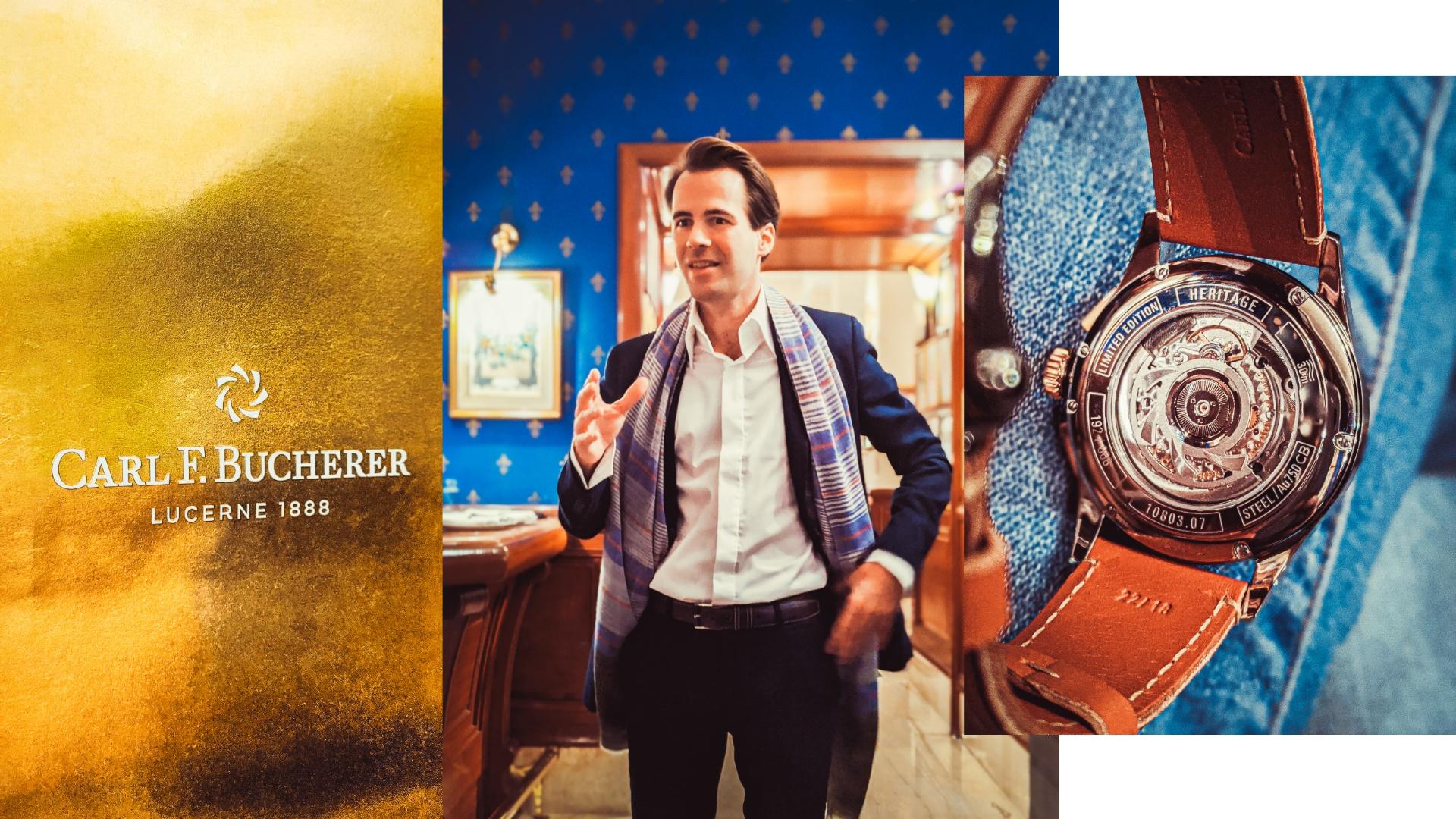 carl f bucherer, 1888, bucherer, india, laurent lecamp, larentlucerne, pashmina, timepieces, eyesforluxury, watches, panda watch, manta, black manta, recycled plastic, rose gold, steel, titanium, unisex watch, mens watch, womens watch, ethos watches, the imperial hotel, blue room, leather strap, flyback, ceramic dial, annual calendar, luxury timepieces, luxury watches, new delhi, india, made of lucerne, made in switzerland, wordswork pr, wordswork public relations, heritage bicompax annual, bicompax
