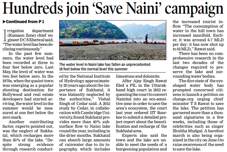 Barefoot Walk To Save Nainital