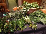 2. Collect your chosen greenery cut into suitable lengths. you need 4-5 inch lengths of wire ready cut.