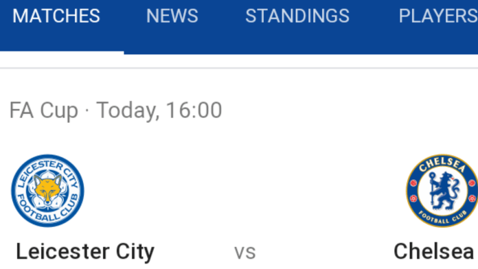Chelsea vs Leicester city fa cup