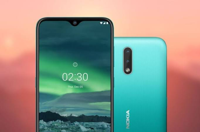 Nokia 2.3 Android half view