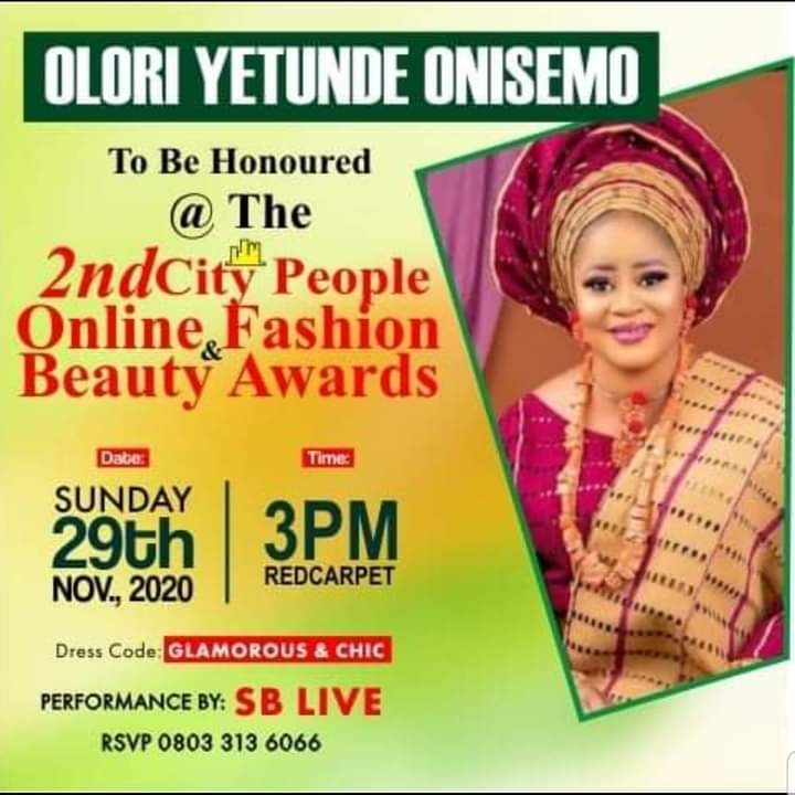 City People Online Fashion and Beauty Award
