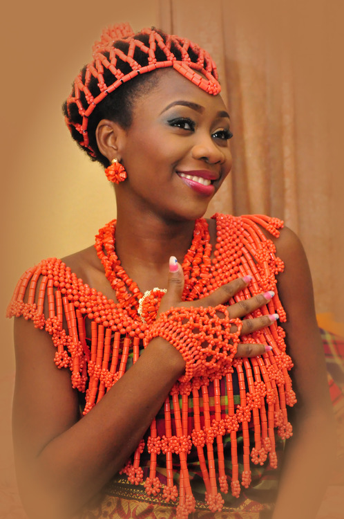 African Beads Coral Weddings