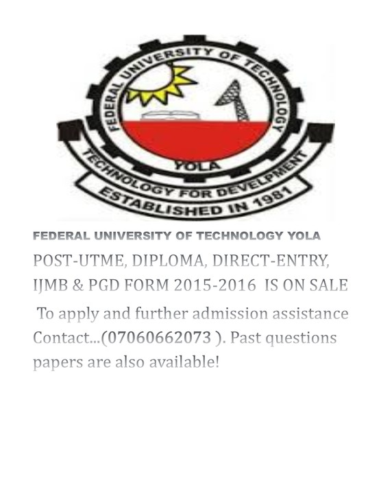 Federal University Of Technology, Yola POST-UTME FORM 2015