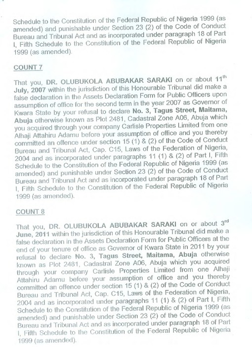 CCB Charges Senate President Saraki Over False Declaration Of Assets ...