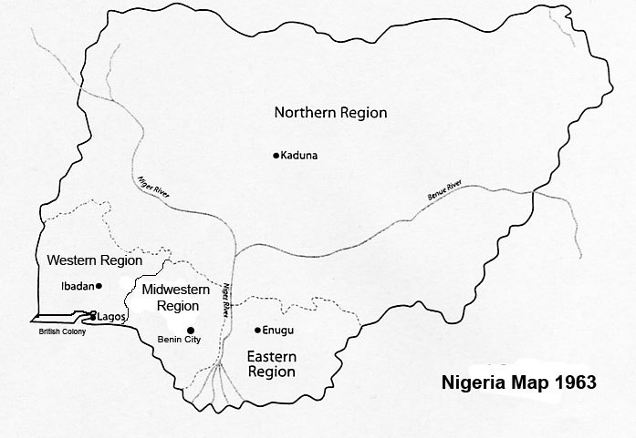 Correct Map Of Nigeria And The Country Of Western Nigeria