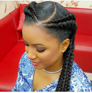 Check Out Double Braids Hairstyle Currently Trending For