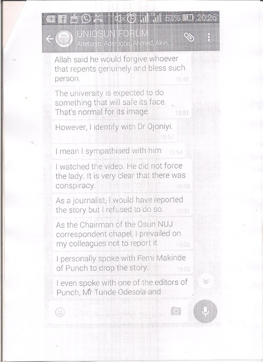 Femi Makinde Of The Punch Newspaper Confessed He Was Under