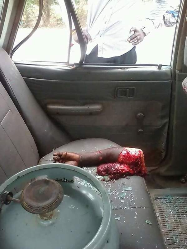 Terrible Fatal Accident Cuts Student Into Pieces In Ghana