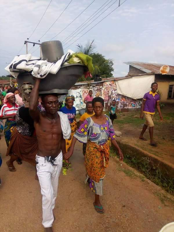 Old Woman Paraded For Having Sex With A Young Man In Ebonyi (Photos) - Crime - Nigeria