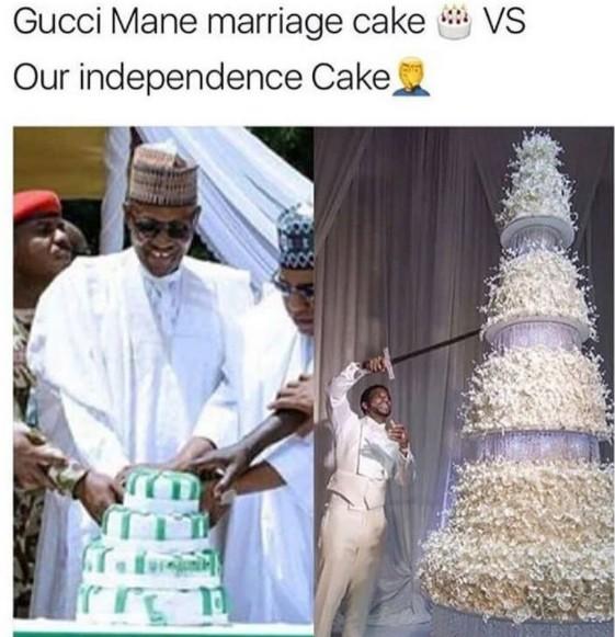 Gucci Mane S Wedding Cake Vs Nigerian Independence Cake