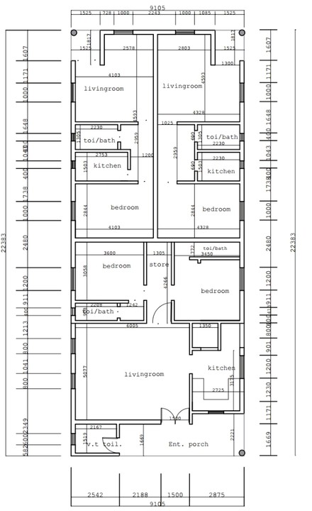 Create The Best 2D+3D Architectural Drawings( Floor+site