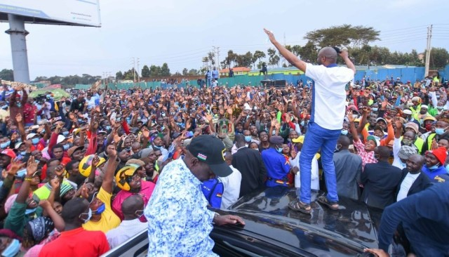 """Ruto na Kazi!"" Excitement As Ruto Brings Kiambaa To A Standstill(Photos)"