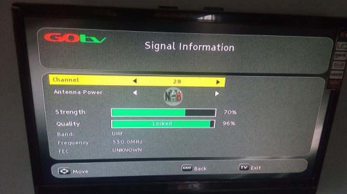 How to Clear The GOTV E48-32 error Searching for Signal