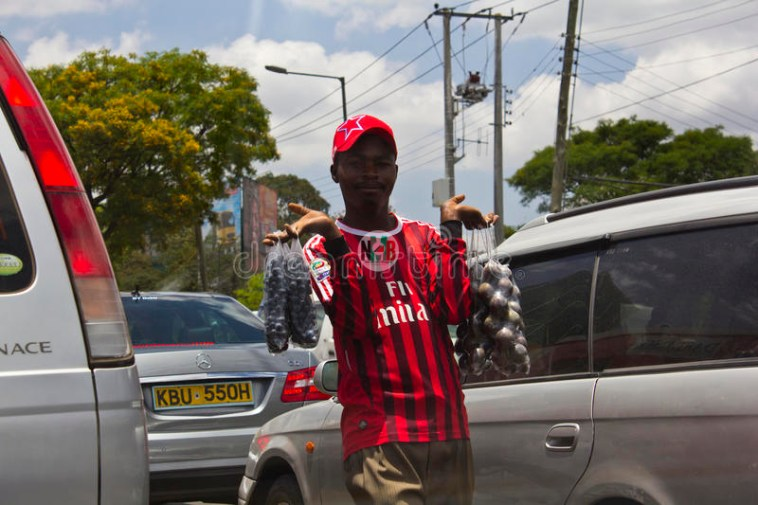 Hawker selling Middle Of The Road kenya