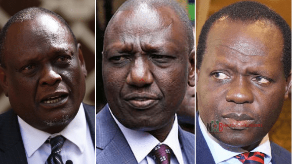 Political Brokers Tuju and Murathe are Banking on to Plunge Ruto's Ship.