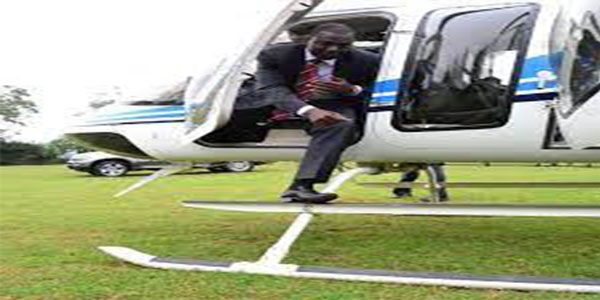 ruto in helicopter