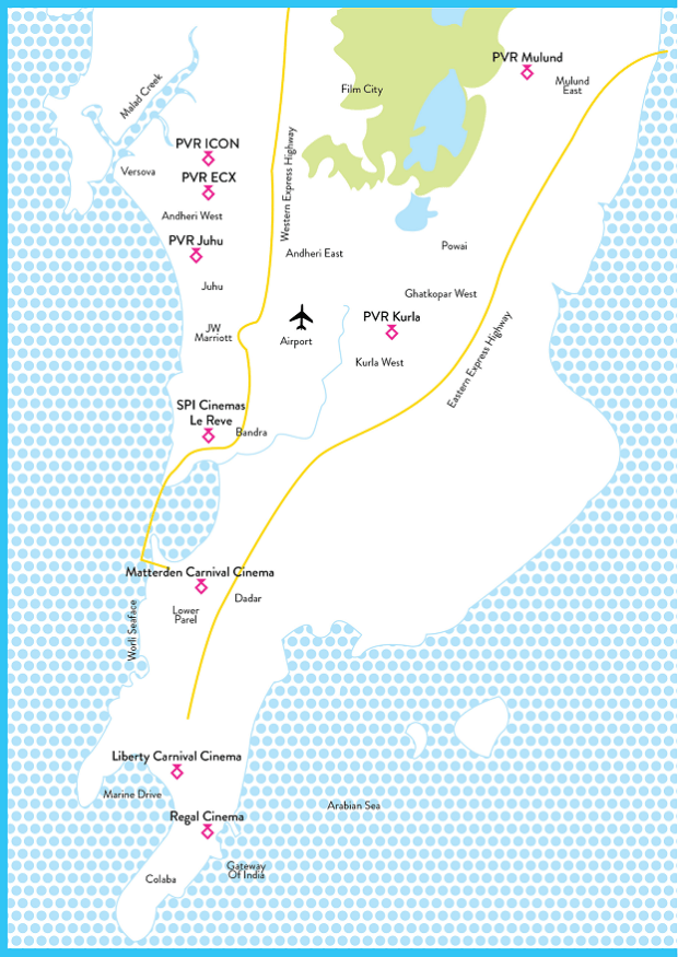 Map of MAMI fest venues