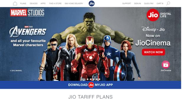 Jio.com in 2019