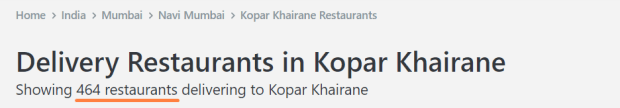 Zomato restaurants in Kopar Khairane