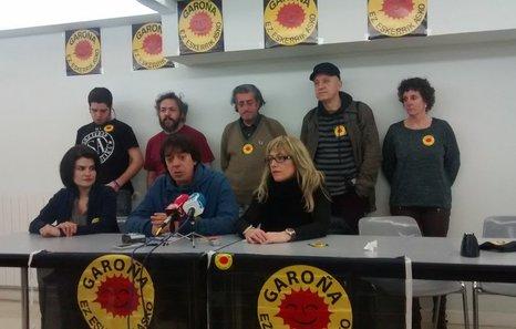 Rueda de prensa ofrecida por Araba Sin Garoña. (NAIZ)