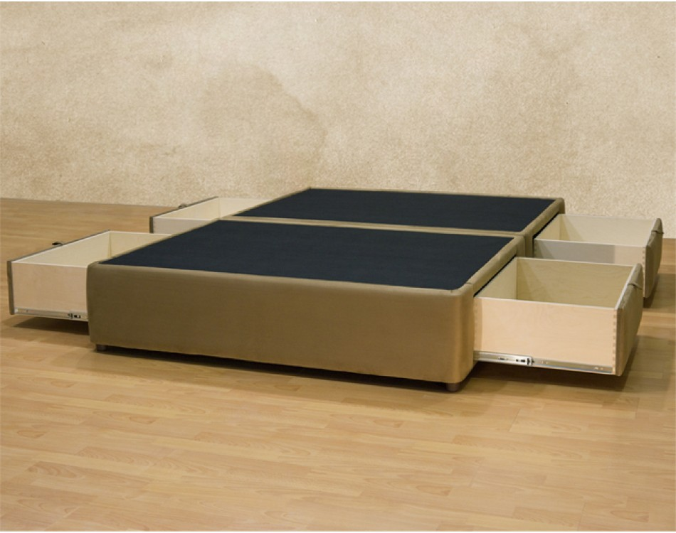 Tiffany 4drawer Platform Bed Storage Mattress Box