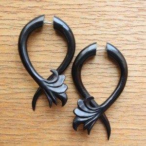 faux ear expander earrings