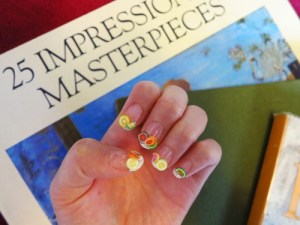 fruit nails & art books.