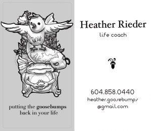 Heather Rieder – Business Card Design