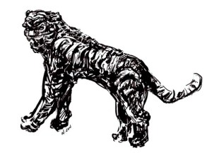 Tiger Tattoo Concept Sketch #1