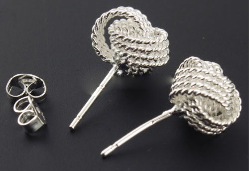 mesh-round-ball-knot-earring
