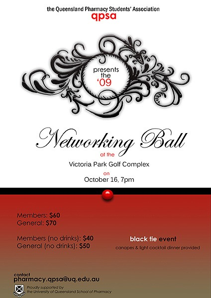 QPSA Networking Ball Poster Design